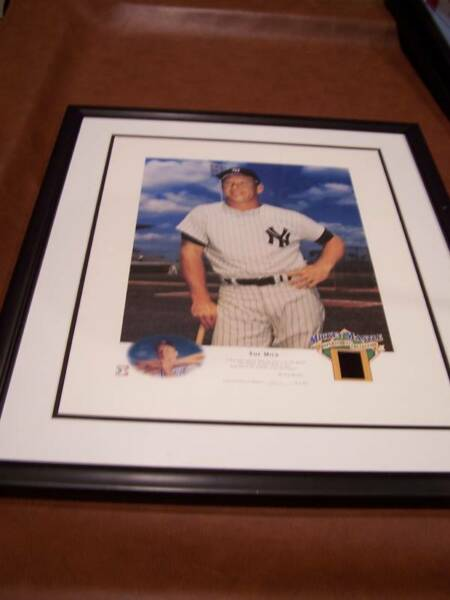 MICKEY MANTLE FRAMED PHOTO WFLIM COOPERSTOWN COLLECTON