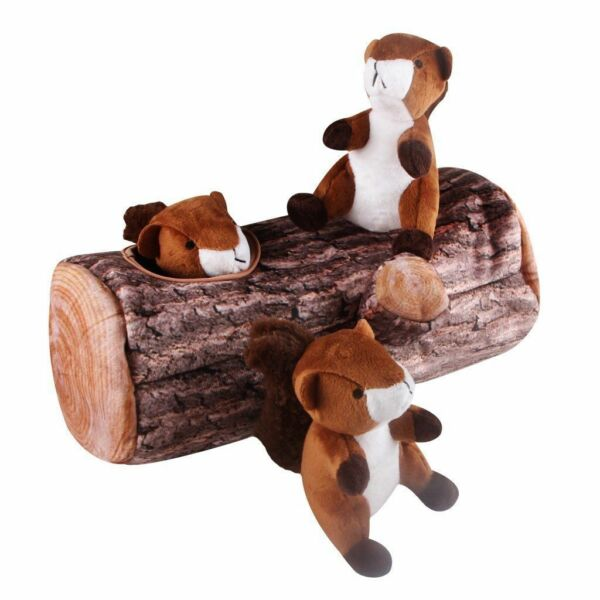 Pet  Dogs Toy Chipmunks Squeaky Hide and Seek Puzzle Plush Squeaking Toys