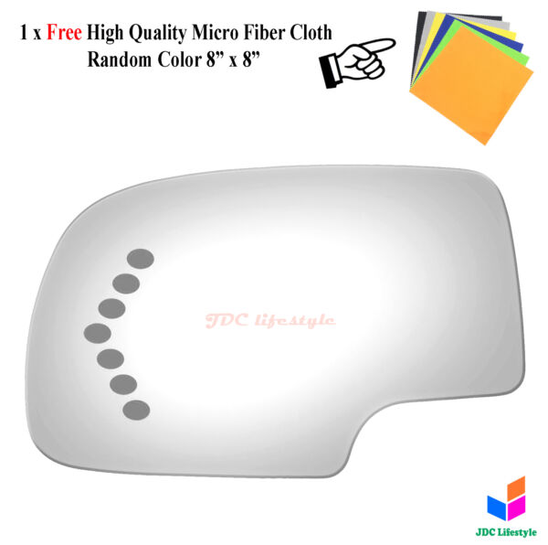 NEW fit 00-07 Chevrolet GMC Truck SUV Driver Side for Signal Mirror Glass #4017S
