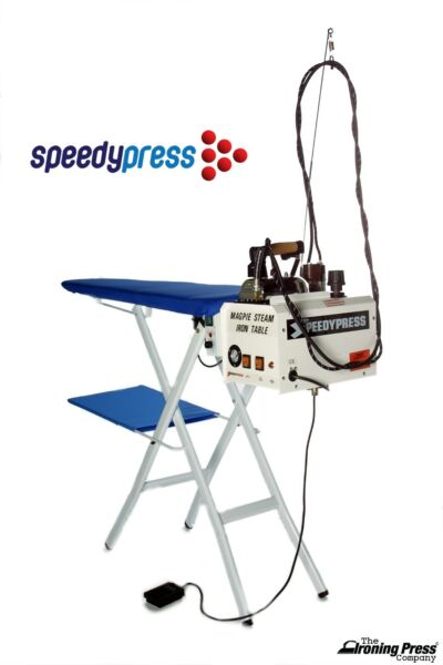 Magpie Ironing System - 5-litre Boiler Iron and Heated Vacuum Board Table