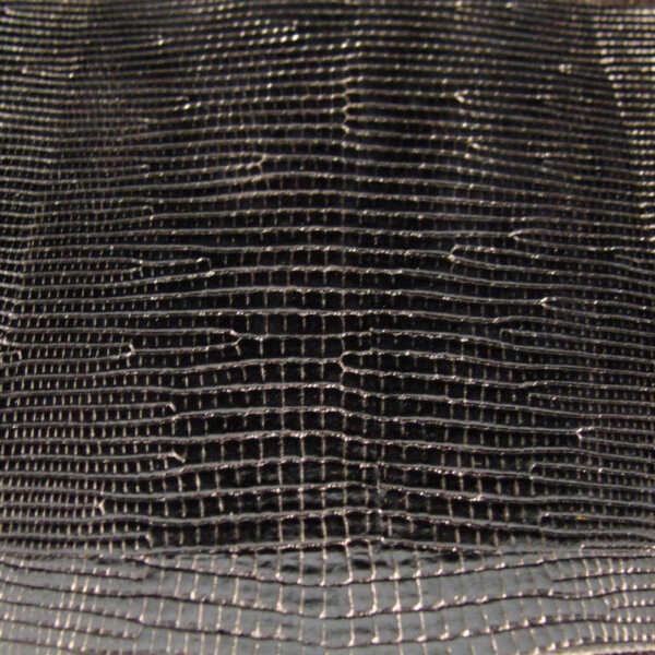 Leather Wrap Blank - Tiger Produc- Embossed Black Lizard Belly  FREE SHIP 002120