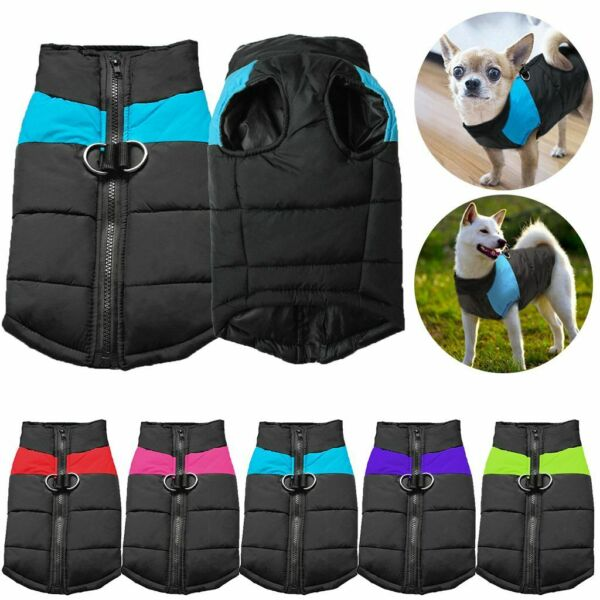 Pet Dog Vest Jacket Warm Waterproof Clothes Winter Padded Coat Small Large $7.59