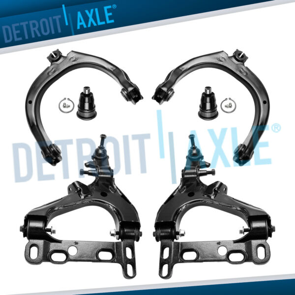 6pc Front Upper Lower Control Arm Ball Joint 2003 - 2007 Chevy Trailblazer Envoy