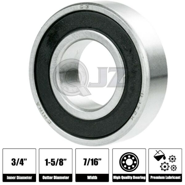 1x SR12 2RS 3 4in x 1 5 8in x 7 16 SR12RS Stainless inch Steel Ball Bearing New