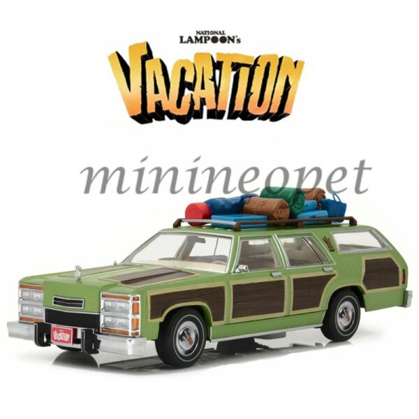 GREENLIGHT NATIONAL LAMPOON'S VACATION FAMILY TRUCKSTER 1/18 w/ ROOFTOP LUGGAGE
