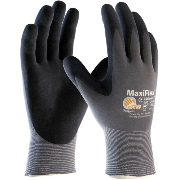 MaxiFlex Ultimate Nitrile Foam Coated Knit Nylon Work Gloves