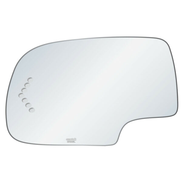 Driver Side Mirror Glass Fit Cadillac Chevy GM Power Signal Auto Dim Replacement