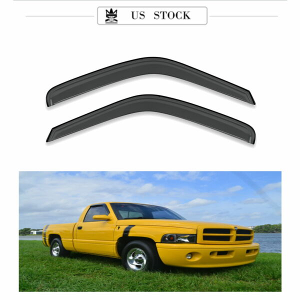 2pcs In-Channel Front SunRain Guard Vent Shade Window Visors Fit 94-0102 Ram