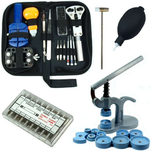 Watch Repair Tool Kit - Case Opener Link Remover Spring Bars with Case Press