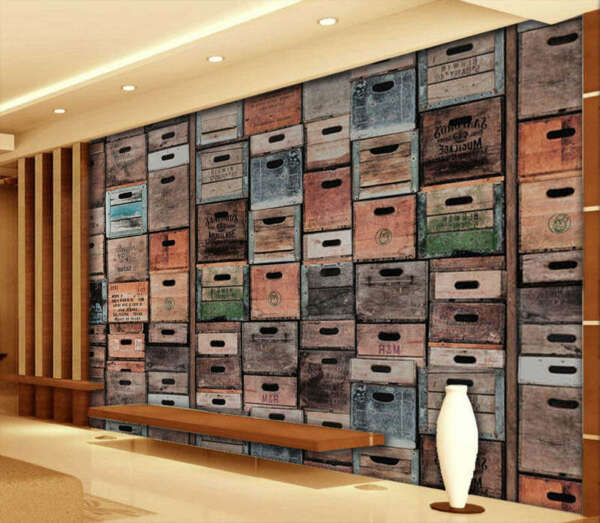 Vintage Beer Crates 3D Full Wall Mural Photo Wallpaper Printing Home Kids Decor