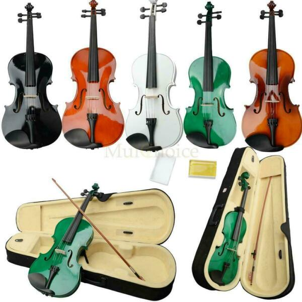 New 16quot; Acoustic Viola Case Bow Black Pink White Blue Green Brown Natural