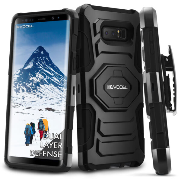 Galaxy Note 8 Case, Evocel Rugged Holster Dual Layer Case w/ Kickstand
