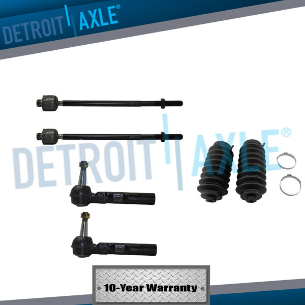 Tie Rod End Inner Outer Kit Set wSteering Boot of 6 for Buick Pontiac Chevrolet