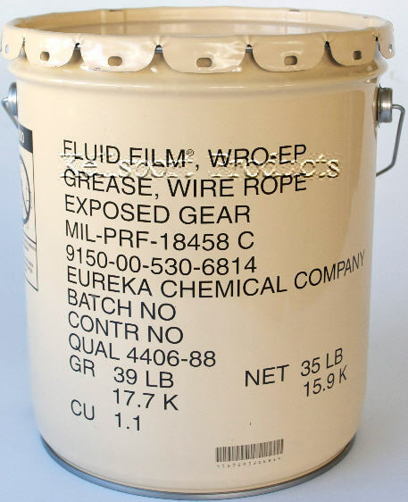Fluid Film WRO-WP Wire Rope Grease.  35 Lb. Metal Pail
