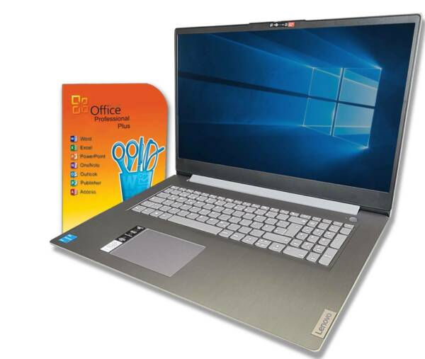 HP Notebook 17 Zoll HD+ Dual Core 2x 2,6GHz 4GB 1TB Win10 Pro / Office 2018 + CD