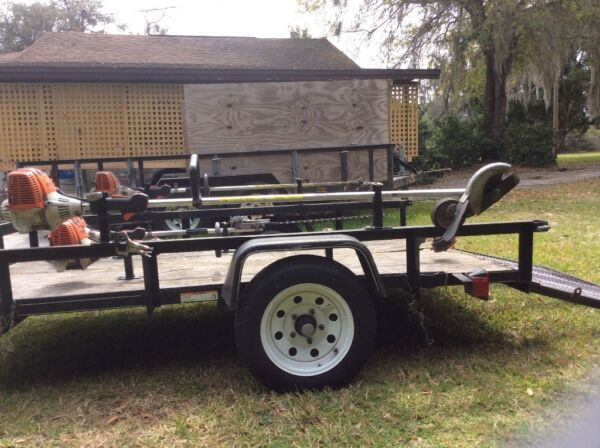 Weed Wacker Edger Trimmer LOCKABLE Single Tier Weedeater Trailer Rack Holder $32.00