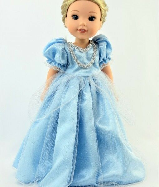 Doll Clothes 14.5 Dress Blue Princess Made To Fit 14.5