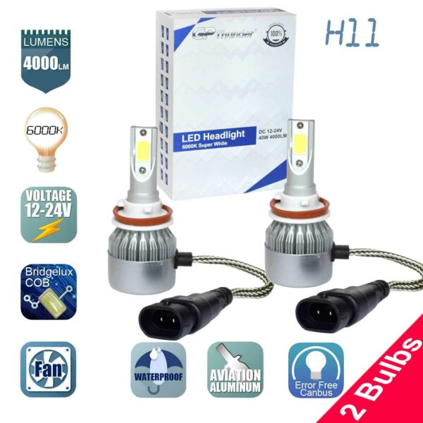 GP Thunder Cree LED Headlight H11 6000K Low Beam Fog DRL Bulb White