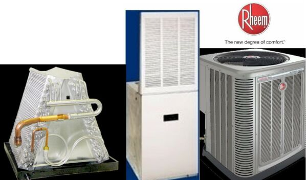 2.5 Ton R-410A 14SEER Mobile Home Heat Pump System Condenser  Furnace
