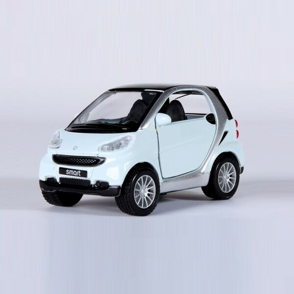Mastio 1:32 white Mercedes-Benz Smart Car Minicar Vehicle Model Toy Power back