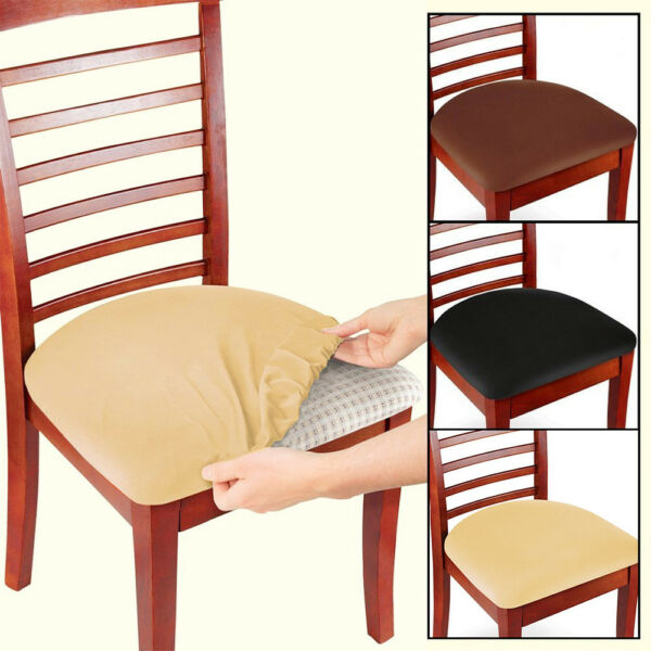 2 4 6 Pcs Removable Elastic Stretch Slipcovers Dining Spandex Chair Seat Cover $12.98