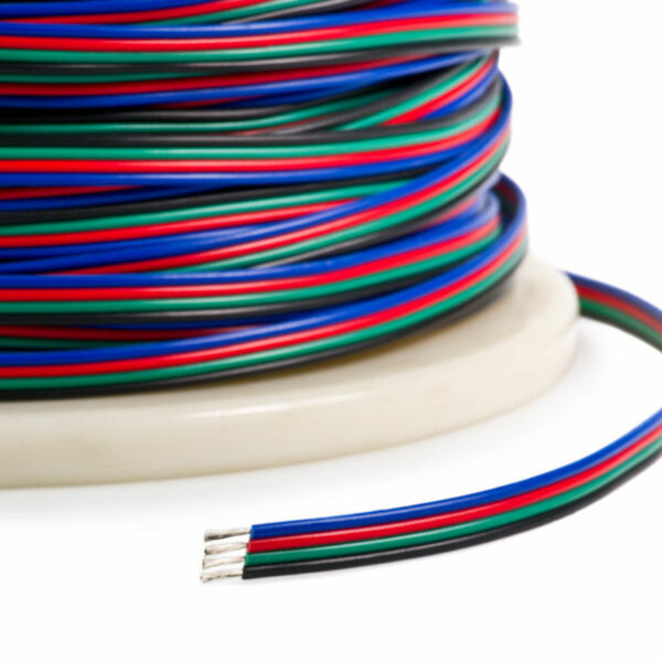 2-100m 4 Pin RGB LED Strip Extension Connector Cable Wire 5050 5630 3528 2835