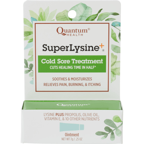 Quantum Health Super Lysine+ Cold Sore Treatment 0.25 oz (7 grams) Cream