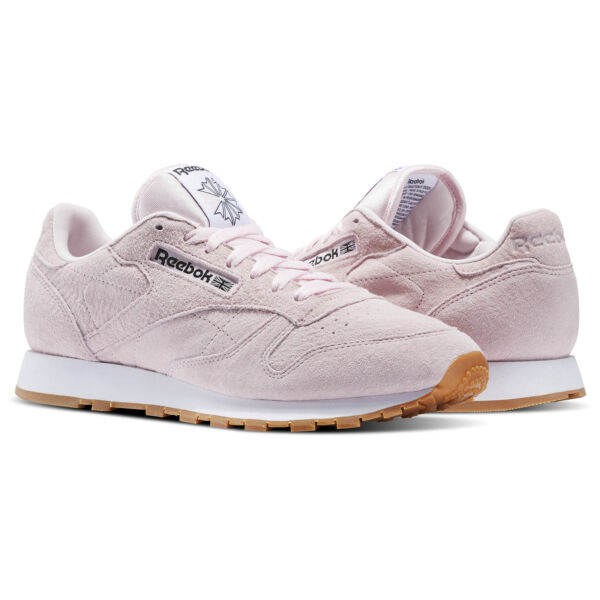 Reebok Men's Classic Leather Pastels Shoes, Pink