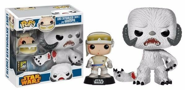 FUNKO POP STAR WARS LUKE SKYWALKER HOTH AND WAMPA COMIC CON EXCLUSIVE SDCC 2014