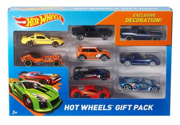 Car Vehicles Set Game Hot Wheels Pack 9pcs Toy Kid Gift Boys Girls Multipack