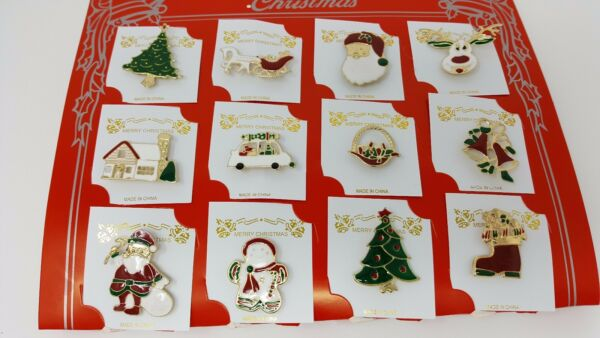wholesale Lot of 12 pcs pretty Vintage Broochespin for Christmas .