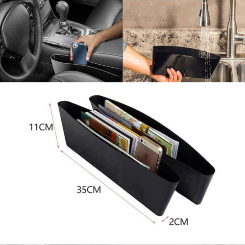 2x Catcher Box Caddy Car Seat Gap Slit Pocket Storage Organizer Holder Catch Box