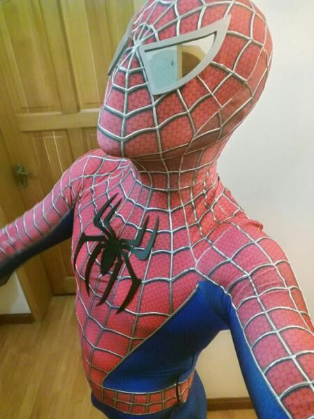 US SHIP Toby Amazing Spiderman Adult Costume 3D Spandex Zentai Suit Tight Coser