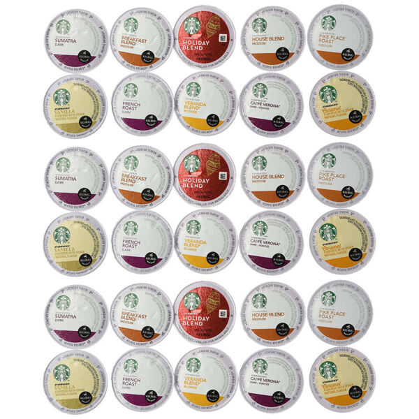 30 Count - Variety Pack of Starbucks Coffee K-Cups All Keurig K Cup Brewers New