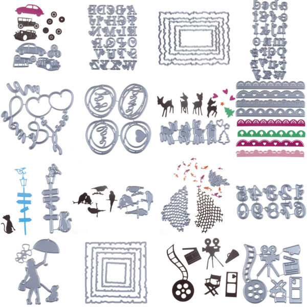 Newest Metal Cutting Dies Stencils For DIY Scrapbooking Photo Album Card Letter