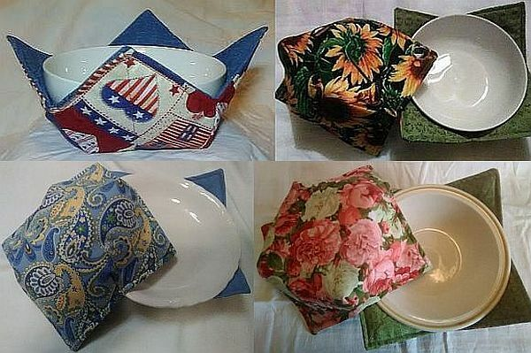 Buy-3-Get-1-Free (read details) - Microwavable Bowl Holder  Cozy - 20+ Patterns $6.00