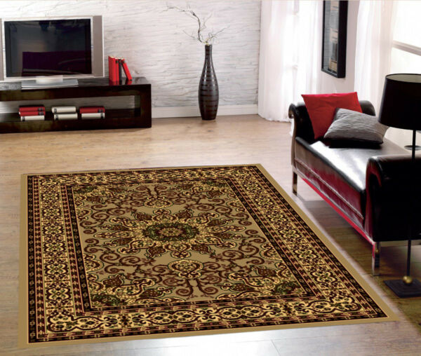 307Rugs Area Medallion Persian Style Area Rugs 5x7 and 8x10 Carpets Floor Decor