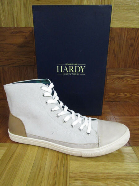 Hardy Design Works Men's Edgware Fashion Sneakers Dirty White