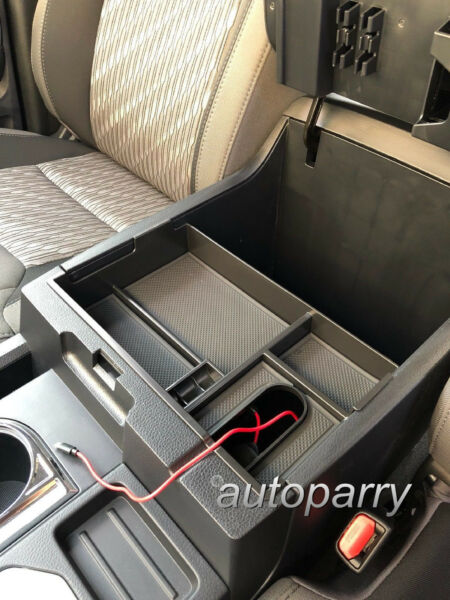 For Toyota Tundra 2014-2018 Center Console Organizer Armrest Storage Box Tray