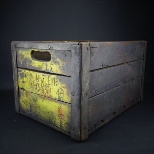 Rare WANZER Dairy Chicago 1946 Wooden Milk Crate 18.5
