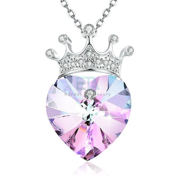 YOU ARE MY QUEEN CROWN PURPLE NECKLACE - WOMEN LADY WIFE MOM BIRTHDAY GIFTS