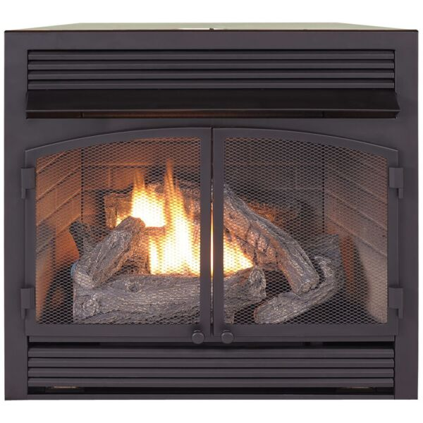 Duluth Forge Dual Fuel Ventless  Gas Fireplace Insert 32000 BTU Remote Control