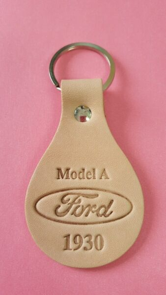 New 1930 Ford Model A Leather Key Fob