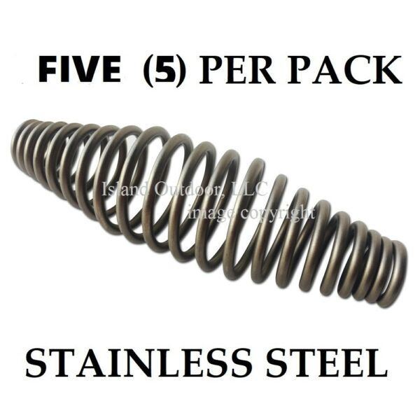 FIVE pk 5quot; STAINLESS steel SPRING HANDLE BBQ smoker grill pit wood furnace stove