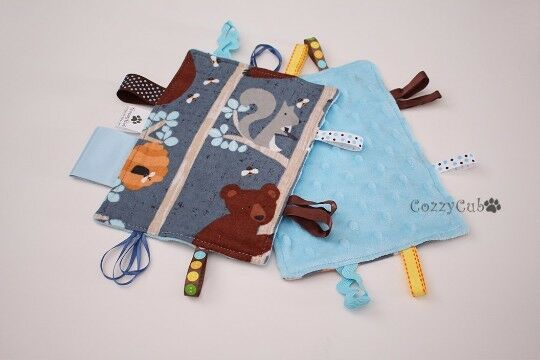 Tag Toy Sensory Toy Stroller Tag Toy Forest Animals Baby Toy Carseat Taggie $12.00