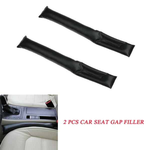 2 X Black Leather Car Seat Gap Filler Cover Spacer Accessory  For Car Trunk