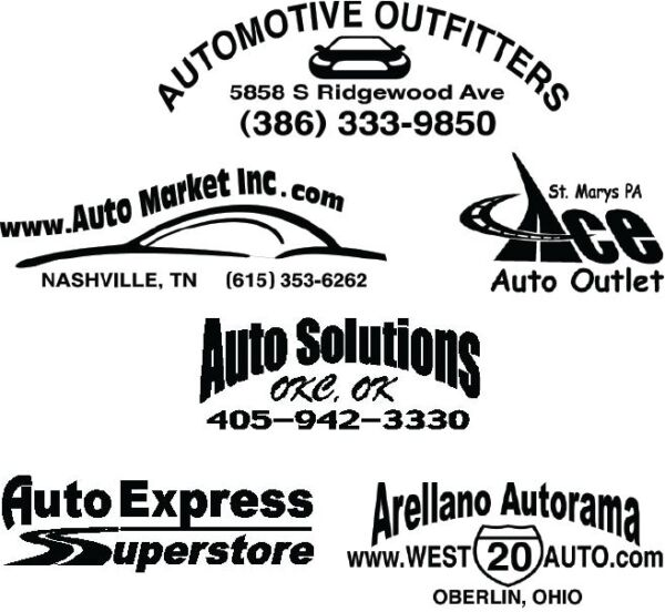 100 AUTO DEALER ID TRUNK DECALS!!  HIGH QUALITY STICKERS.  YOUR CUSTOM DESIGN.