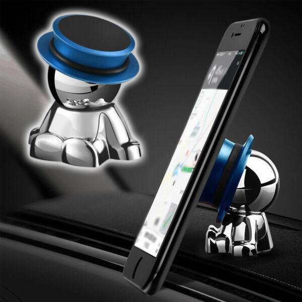 1pcs 360° Rotation Magnetic Stainless steel Phone Holder Stand Car Accessories