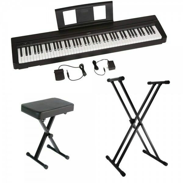 Yamaha P45 88-Key Weighted Action Digital Piano with Accessory Bundle