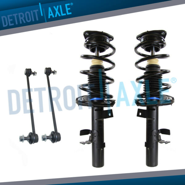 Front Strut Coil Spring Sway Bar Kit for 2012 2013 Ford Focus 2.0L Auto Trans